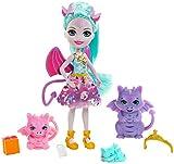Royal Enchantimals Muñeca invitada con regalos con familia de dragones de juguete (Mattel GYJ09)