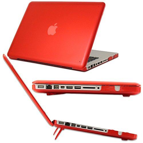 mCover Hard Shell CaseNotebook hulle fur Apple MacBook Pro 133 Modell A1278 mit DVD Nicht fur MacBook Pro 13 Zoll Retina Display Mit einem kostenlosen transparenten Tastaturschutz Rot A1278