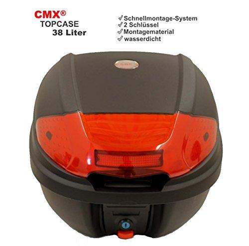 CMX® Motorradkoffer Rollerkoffer Topcase Top Case 38L schwarz universal