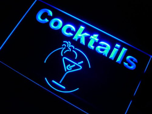ADVPRO Cartel Luminoso j991-b Cocktails Bar Beer Wine Neon Light Sign