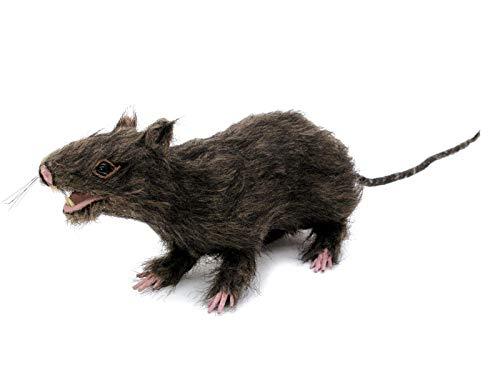 EUROPALMS Lebensechte Ratte mit braunem Fell | 30 cm Länge | Dekoration für ihre Halloween-Party