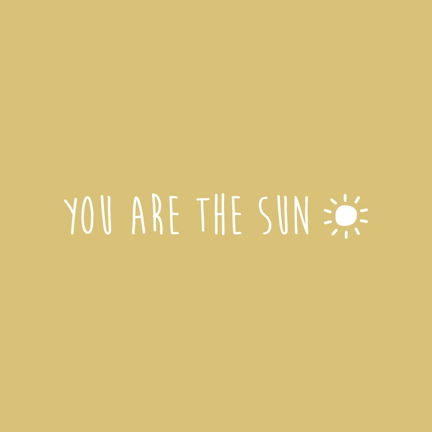 Vinyl Wall Art Decal You are The Sun Trendy Cute Inspiring Positive Lovely Quote Sticker for Bedroom Living Room Kids Room Playroom Nursery Baby Room Daycare Decor 3 x 20 Black