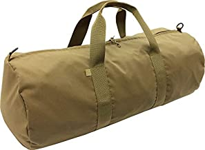 Fire Force # 7134 Fully Lined, Ddouble Layered Deluxe Cordura Duffel Bag Made in USA (Coyote Brown, Medium 30 x 14)