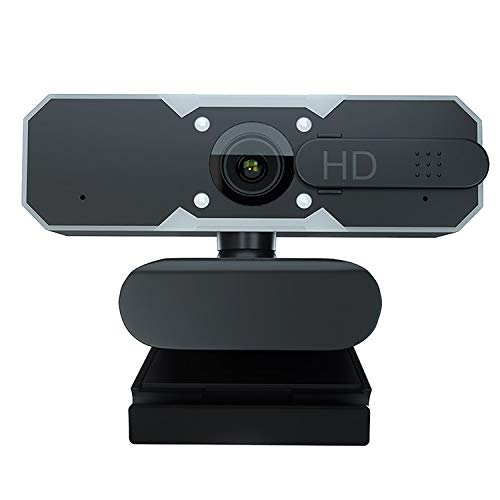 1080P Webcam with Microphone, 2021 COSHIP Gaming Webcam with Adjustable Brightness, Privacy Cover, Auto Focus, H.265 Technology, Streaming Web Camera for Zoom Skype Xbox one, PC Mac Laptop Desktop