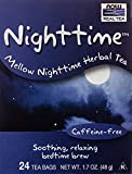NOW Foods, Nighttime™ Tea, Mellow Nighttime Herbal Tea, Soothing, Relaxing Brew Before Bedtime, Premium Unbleached Tea Bags with No-Staples Design, 24-Count