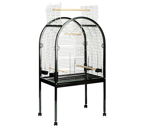 Duvo+ 498/037 Papagei Käfig Pearl Chrome, schwarz