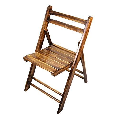 Giardino Silla Plegable de Madera, sillas de Comedor para Patio, Silla para Exterior o Interior, sillón de Madera, Patio, terraza, césped, jardín, terraza o Asiento de Repuesto para Patio Trasero