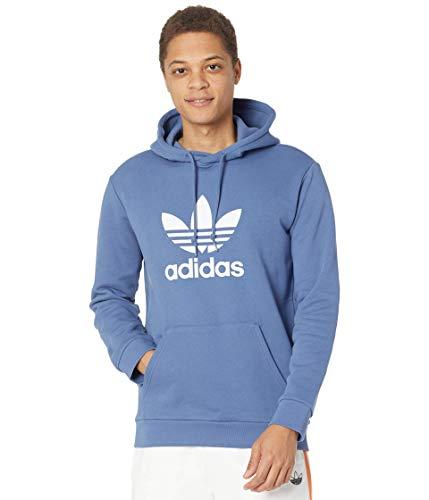 adidas Originals Trefoil Hoodie Sudadera, Color Azul, XXL para Hombre