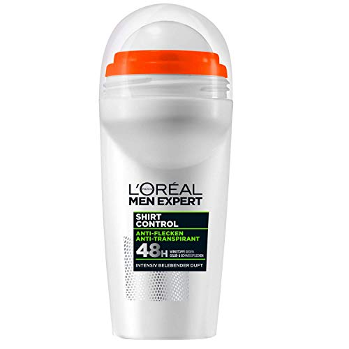 L'Oréal Men Expert Shirt Control Anti transpirant Deo Roll On 2x 50ml (verpakking van 2)
