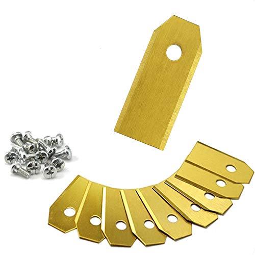 ONVAYA XXL Ersatzmesser für Mähroboter | 72x Titan Messer | 43 mm Länge | 0,75 mm | Husqvarna Automower Ersatzteile | Gardena Mähroboter Zubehör | Rasenmähermesser | Rasentrimmer