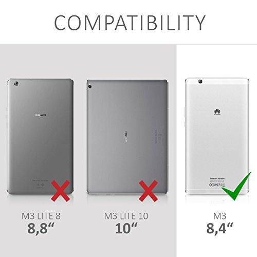 kwmobile Hülle kompatibel mit Huawei MediaPad M3 8.4 - Slim Tablet Cover Case Schutzhülle mit Ständer Schwarz - 6
