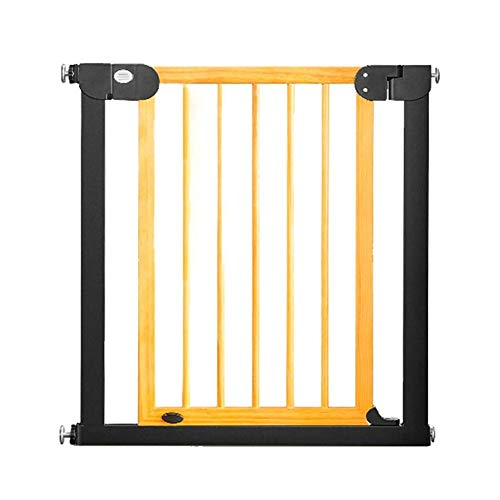 PNFP Baby-doelen, extra brede babydeuren voor de trap, drukgemonteerde binnen-hondenpoort met doorlopende houten deur, 76-153 cm breed