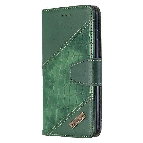 Hoesje voor iPhone 8 Plus / 7 Plus Wallet Book Case, Magneet Flip Wallet met Kaarthouders slots Robuuste schokbestendige Bookcase voor Apple iPhone 7Plus / 8Plus - JEBF060023 groen