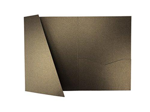 Chocolate A7.5 Card Cover Tri-fold Pocket Invitations for Weddings, Birthdays, Greeting Cards - 25 pcs