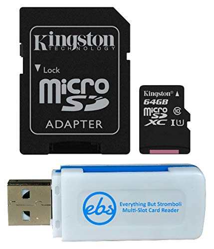 Kingston 128GB SDXC Micro Canvas Select Memory Card and Adapter Bundle Works with Samsung Galaxy A50, A40, A30 Cell Phone (SDCS/128GB) Plus 1 Everything But Stromboli (TM) MicroSD and SD Card Reader