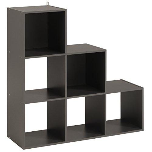 Parisot Cube 6 Cases dégradé - Kubikub - Gris Ombre - l 90 x P 30 x H 90 cm