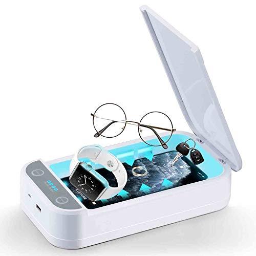 INNObeta Phone Sanitizer, Wireless Portatile Sterilizzatore Aromaterapia Disinfezione Scatola di Detergente per Phone, Orologio, Gioielli