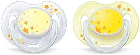 Philips Avent Avent Glow in The Dark Night Time Soothers (Multicolor)
