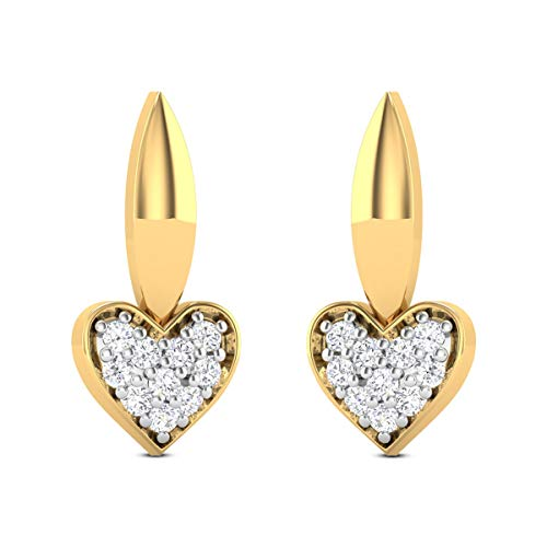 0.20 Carats White Diamond Stud Earrings Solid 14k Yellow Gold Certified Diamond Earrings For Women Anniversary Wedding Gift For Her
