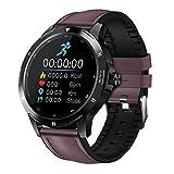 ZXQZ Watches Smartwatch, Fitness Tracker mit Heärt Räte Schlafmonitor, Full Touchscreen Activity Tracker mit Musiksteuerung Schrittzähler Kalorienzähler, für IOS Android Uhren (Color : Black Brown)