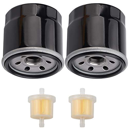 Kizut 2 Pack 136-7848 Oil Filter with Fuel Filter for Toro 120-4276 127-9222 ZS SW SS MX SWX HD Timecutter Riding Mower