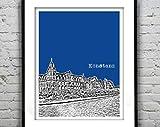 AZSTEEL Konstanz Germany Poster Art City Skyline Druck