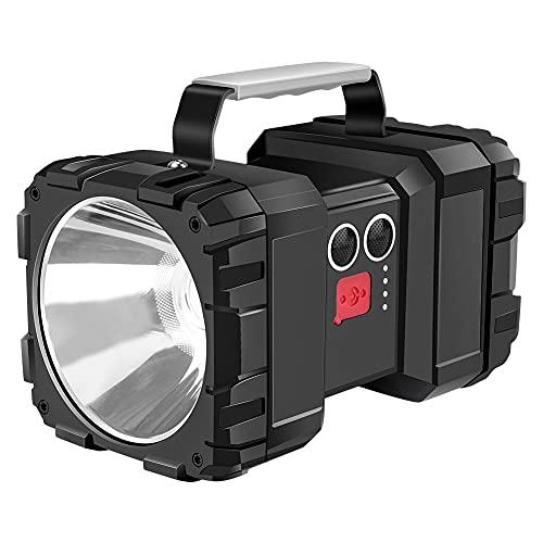 Linkax Lámpara de Cámping, Linterna Cámping LED Recargable Regulable, Resistente al Agua, Linterna Potente de 7 Modos con Cable USB para Senderismo, Garaje, Rescate, Bodega