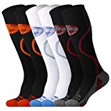 JUSDO Kids Soccer Socks, Classic Cushion Athletic Socks Team Sport Knee High Socks for Youth Kids (3 Pairs /M)