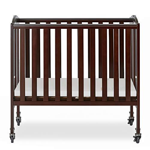 Dream On Me 2-in-1 Folding Birch Portable Crib, Espresso