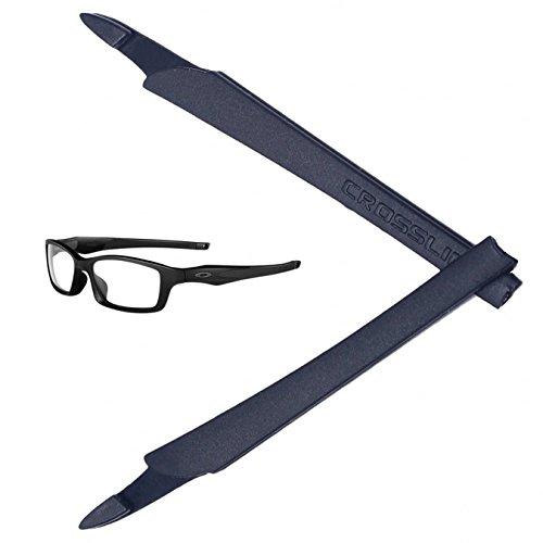 NexCraft Black Silicon Rubber Kit Arm Ear Socks for Oakley Crosslink Pro Switch Sweep Eyewear Glasses Temples