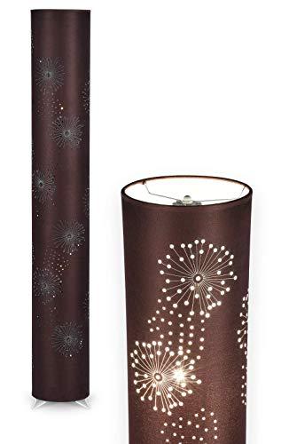 NÄVE Stoff Stehlampe Aurona braun - Stehleuchte 120 x 18 cm mit 2x E14 Fassung 40W - Standleuchte modern aus Metall/Stoff ideal für Wohnzimmer & Schlafzimmer - Wohnzimmerlampe, Standlampe, Leselampe
