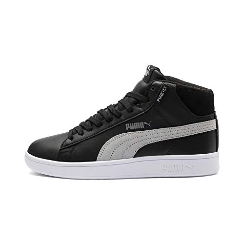 PUMA Smash v2 Mid PureTEX Kinder High-Tops Puma Black-Quarry-Puma White UK 6_Youth_FR 39