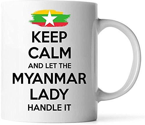 Keyboard cover Tassen - Myanmar-Geschenk für Frauen-Großmutter-Mamma-Tante Girlfriend 11oz White Coffee Mug - behalten Sie Ruhe und Lassen Sie die Myanmar-Dame es anfassen