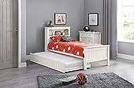 Julian Bowen Maine Bookcase Bed & Underbed , Surf White, Single