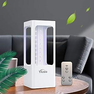 immagine di [Versione avanzata] Lampada sterilizzante UVC YiLaie LED, tasso di disinfezione del 99,99%, tipo portatile mobile, luce germicida a 32 LED UVC con telecomando-sensore di movimento