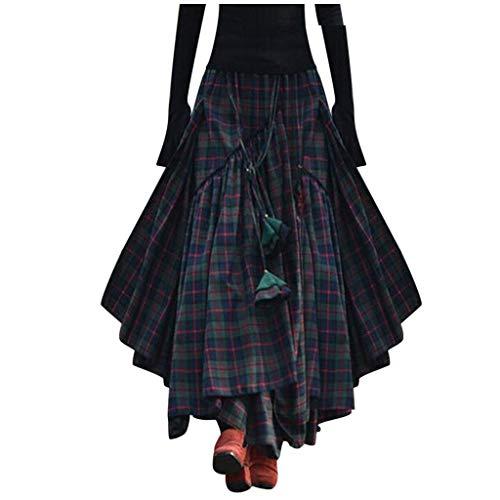 Hombre Mujeres Tela Escocesa Falda Escocesa Plisada Falda Clásico Falda De Gran Tamaño Unisex De Mujer De Rock para Mujer para Hombre Retro Tradicional Highland Vestido Irregular Rejilla del Tartán