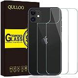 QULLOO Protector de Pantalla para iPhone 11 Protector de Pantalla Trasera de Vidrio, Cobertura Completa Anti-Huellas Reemplazo de Carcasa para iPhone 11-2 Piezas