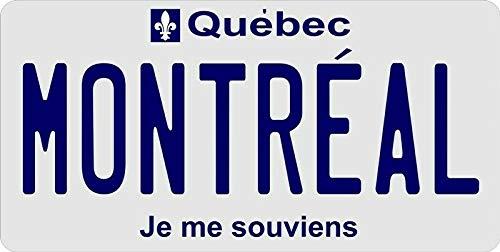 Inga Quebec Montreal-Nummernschild, personalisierbar, 15,2 x 30,5 cm