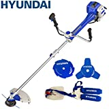 Hyundai 51cc 2-Stroke Anti-Vibration Petrol Grass Trimmer/Strimmer/Brushcutter HYBC5080AV - Blue