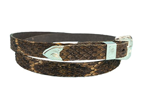 Real 3/8 Western Style Rattlesnake Hat Band (598-HB210)