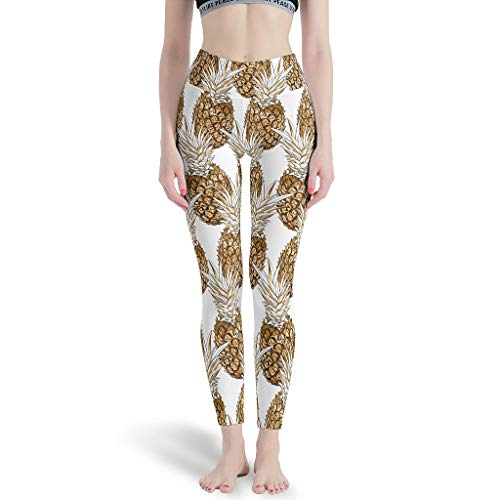 HXshqian Pineapple Fruit Sport Yoga-Hose für Stretch White 4XL