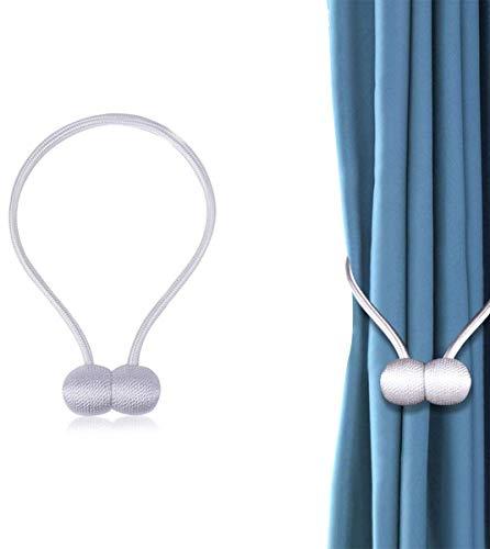 JieGuanG Vorhang-Raffhalter, magnetische Vorhangschnallen für Zuhause, Büro, Dekoration, Weiß