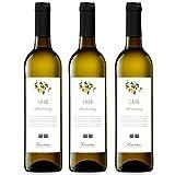 LAUS Chardonnay, Vino Blanco - Añada 2019 - D.O. Somontano - Paquete de 3 Botellas, 75cl -Potente y...