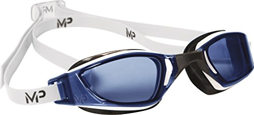 Michael Phelps - MP XCEED Gafas de natación, Unisex, Blanco/Negro/Azul