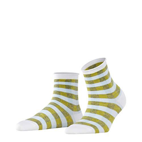 Burlington Sporty Vichy Calcetines cortos, Blanco (White 2000), 36-41 para Mujer
