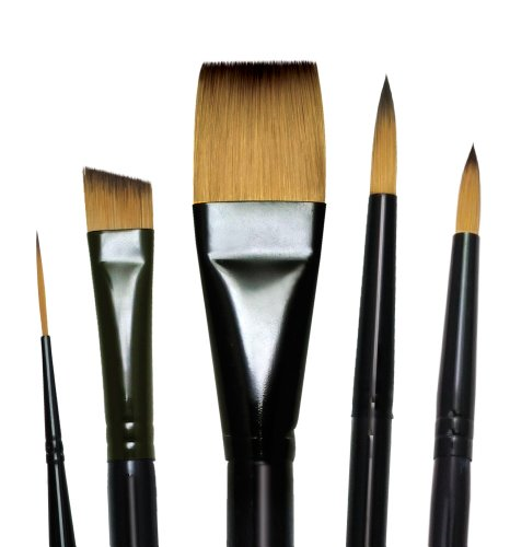 Royal and Langnickel Majestic Short Handle Paint Brush Set, Deluxe Watercolor, 5-Piece