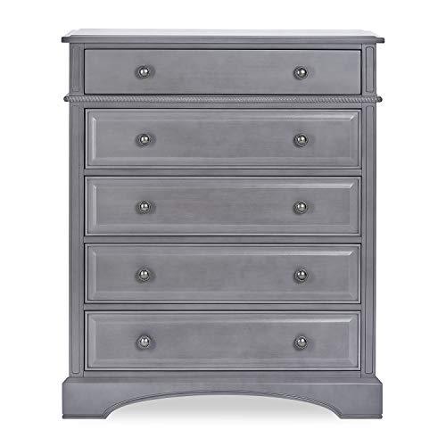 Evolur Five-Drawers Dresser, Storm Grey