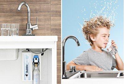 Sprudel aus dem Wasserhahn! Untertisch-Trinkwassersprudler BubbleBox inkl. 3-Wege-Armatur IMPREZA INOX und Anschluss-Set. Macht das Leben einfach prickelnder! Bubble Box - 9