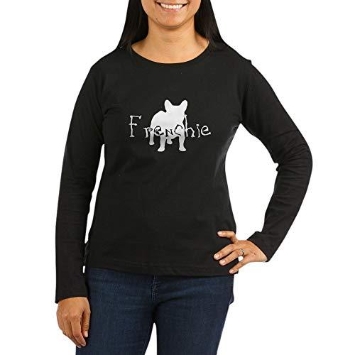 CafePress Frenchie Craze (White) Women's Long Sleeve Dark T Women's Long Sleeve T-Shirt, Classic 100% Cotton Crew Neck Shirt