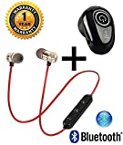LIMESHOT Combo of in-Ear Wireless Bluetooth Music Earphone and Bluetooth Headset with Mic